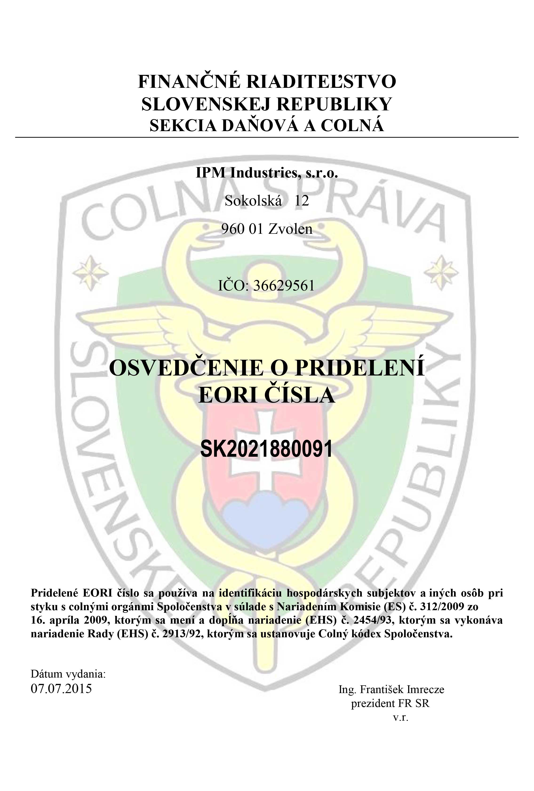 671c43a88 NCAGE - číslo výrobcu a dodávateľa produktov pre účely obrany č: 1455M